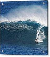 Surfing Waimea Bay Acrylic Print
