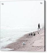 Surfing Where The Ocean Meets The Sky Acrylic Print