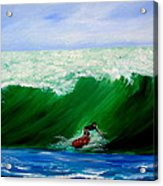 Surf's Up Surfing Wave Ocean Acrylic Print