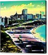 Surreal Colors Of Miami Beach Florida Acrylic Print