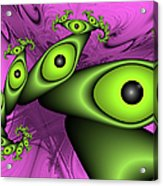 Surreal Green Eyes Fractal Acrylic Print