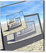 Surreal Monitors Infinite Loop Acrylic Print