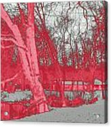 Surreal Red Winter Acrylic Print
