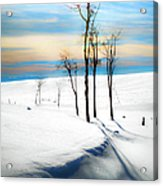 Surreal Snowscape Acrylic Print