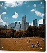 Surreal Summer Day In Central Park Acrylic Print