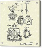 Surveying Instrument 1933 Patent Art Acrylic Print