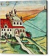 Surveying Methods, 16th Century Acrylic Print