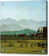 Surveyors Wagon In The Rockies Acrylic Print