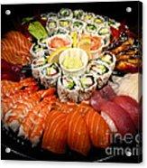Sushi Party Tray Acrylic Print