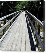 Suspension Bridge Over Pemigewasset River Nh Acrylic Print