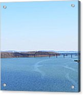Susquehanna River And The Thomas J Hatem Bridge Acrylic Print