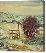 Sussex Stile, Winter, 1996 Acrylic Print