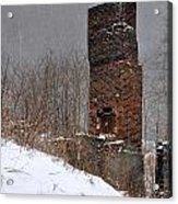 Sutherland Chimney In Winter Number One Acrylic Print