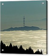 San Francisco's Sutro Tower Across The Sea Of Fog Acrylic Print
