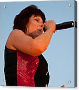 Suzanne Fox Of The Fabulous Kingpins Acrylic Print
