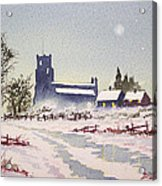 Suzan's Church Painting  Acrylic Print