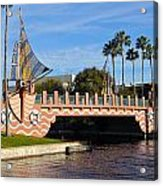 Swan And Dolphin Resort Bridge Acrylic Print