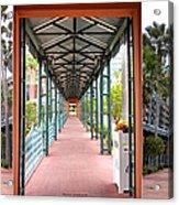 Swan And Dolphin Resort Walt Disney World 3 Panel Composite Acrylic Print