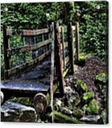 Swan Creek Footbridge Acrylic Print