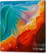 Swan Nebula Acrylic Print by Barbara McMahon