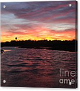 Swan River Sunset Acrylic Print