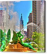 Swann Memorial Fountain - Hdr Acrylic Print