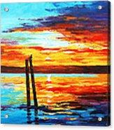 Swansea Sunset Acrylic Print