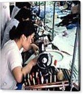 Sweatshop. Acrylic Print by Oscar Williams