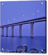 Sweden, The Bridge To The Island Acrylic Print
