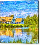 Swedish Lakehouse Acrylic Print