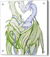 Swedish Love Dragons Acrylic Print