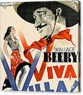Swedish Poster #1   Viva Villa 1934-2008 Acrylic Print