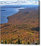 Sweeping Fall Panorama Over Lake Memphremagog Acrylic Print