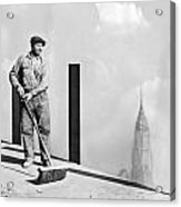 Sweeping The Empire State Bldg Acrylic Print