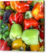 Sweet Bell Peppers Assorted Colors Acrylic Print