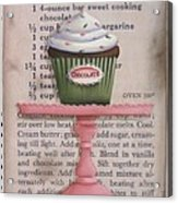 Sweet Chocolate Cupcake Acrylic Print