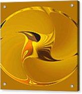 Sweet Golden Spinner Acrylic Print