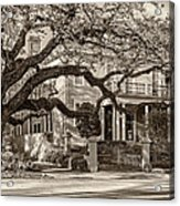 Sweet Home New Orleans 2 Sepia Acrylic Print