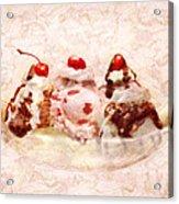 Sweet - Ice Cream - Banana Split Acrylic Print