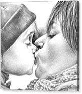 Sweet Kiss Acrylic Print by Natasha Denger