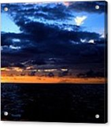 Sweet Mystery... Last Glimmering Off Guadeloupe Acrylic Print