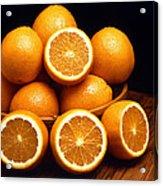 Sweet Oranges Whole And Halved Acrylic Print