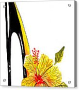 Sweetheart Hibiscus Stiletto Acrylic Print
