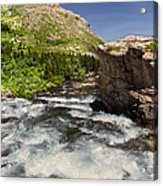 Swiftcurrent River At Many Glacier Acrylic Print