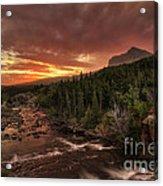 Swiftcurrent River Sunrise Acrylic Print