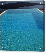 Swim Above The Santorini Island Acrylic Print
