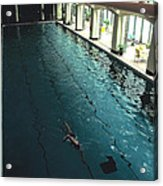 Swimmer In Pool At Banff Lodge Acrylic Print