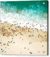 Swimmers Entering The Ocean Acrylic Print