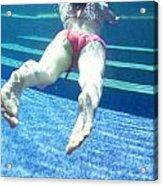 Swimming Girl Under Water Acrylic Print