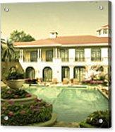 Swimming Pool In Luxury Hotel Acrylic Print